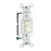 Leviton 1221-Sw 20a, 120/277v, Single-Pole Ac Quiet Switch, Grounding, White - Min Qty 16