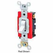 Leviton 1222-2gy 20a, 120/277v, Double-Pole Ac Quiet Switch, Gray - Min Qty 13