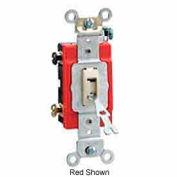 Leviton 1222-2il 20a, 120/277v, Locking Double-Pole Ac Quiet Switch, Ivory - Min Qty 10