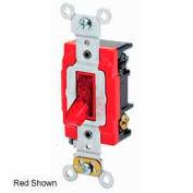 Leviton 1222-Plc 20a, 120v, Neutral Double-Pole Ac Quiet Switch, Clear - Min Qty 7