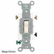Leviton 1223-S 20a, 120/277v, 3-Way Ac Quiet Switch, Grounding, Brown - Min Qty 15