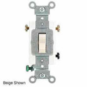 Leviton 1223-Sgy 20a, 120/277v, 3-Way Ac Quiet Switch, Gray - Min Qty 15