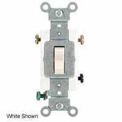 Leviton 1223-St 20a, 120/277v, 3-Way Ac Quiet Switch, Light Almond - Min Qty 15