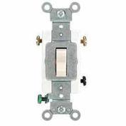 Leviton 1223-Sw 20a, 120/277v, 3-Way Ac Quiet Switch, White - Min Qty 15