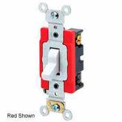 Leviton 1224-2w 20a, 120/277v, 4-Way Ac Quiet Switch, White - Min Qty 8