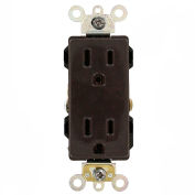 Leviton 16262 15a, 125v, Decora Plus Duplex Receptacle, Industrial Grade, Brown - Min Qty 17