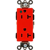 Leviton 16362-Hgr 20a, 125v, Decora Plus Duplex Receptacle, Self Grounding, Red - Min Qty 12
