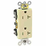 Leviton 16362-Igb 20a, 125v, Decora Plus Duplex Receptacle, Straight Blade, Blue - Min Qty 11