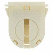 Leviton 23662-OSL Fluorescent Lampholder, Slide On Mounting, White