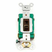 Leviton 3031-2l 30a, 120/277v, Single-Pole Ac Quiet Switch, Brown - Min Qty 8