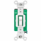 Leviton 3031-2w 30a, 120/277v, Single-Pole Ac Quiet Switch, White - Min Qty 10
