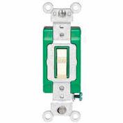 Leviton 3032-2 Double-Pole Ac Quiet Switch, 30 Amp 120/277 V, Brown - Min Qty 8