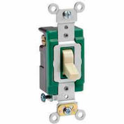 Leviton 3033-2i 30a, 120/277v, 3-Way Ac Quiet Switch, Self Grounding, Ivory - Min Qty 8