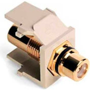 Leviton 40830-BTE QuickPort RCA Gold-Plated Connector with Black Stripe
