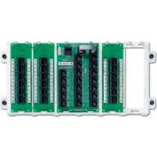 Leviton 47603-18P 18-Port Structured Media Panel, White