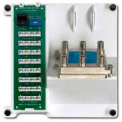 Leviton 47603-Tsv Compact Series Telephone Security And 6-Way Video Panel, White - Min Qty 2