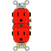 Leviton 5242-R 15A, 125V, Duplex Receptacle, Red