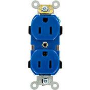 Leviton 5252-BU 15A, 125V, Duplex Receptacle, Blue
