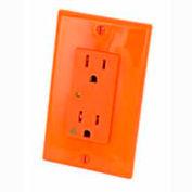 Leviton 5280-Igo 15a 125v Decora Duplex Receptacle, Iso Ground, Orange - Min Qty 4