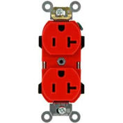 Leviton 5352-R 20A, 125V, Duplex Receptacle, Red