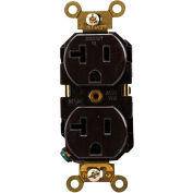 Leviton 5362 20a, 125v, Duplex Receptacle, Self Grounding, Brown - Min Qty 20