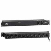Leviton 5500-2NL Horizontal Rack Mount PDU w/Surge Protection, w/o On/Off, NEMA L5-20P, 120V, 20A