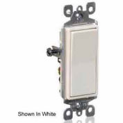 Leviton 5601-2I 15A, 120/277V, Decora Rocker Single Pole AC Quiet Switch, Ivory