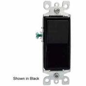 Leviton 5603-2I 15A, 120/277V, Decora Rocker 3-Way AC Quiet Switch, Ivory