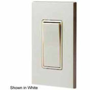Leviton 5613-2t 15a, 120/277v, Decora Rkr, Illum. Off, 3-Way Ac Switch, Light Almond-Min Qty 14