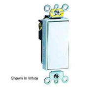 Leviton 5623-2t 20a, 120/277v, 3-Way Decora Rocker Ac Quiet Switch, Light Almond - Min Qty 14