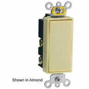 Leviton 5657-2i 15a Decora Plus Rkr, 1-Pole Dbl Throw Center Off Momentary Contact, Ivory-Min Qty 6
