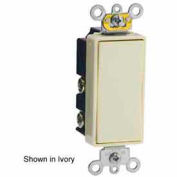 Leviton 5685-2i 15a Decora Plus Rocker, 1-Pole Dbl Throw Center Off Maint. Contact, Ivory-Min Qty 4