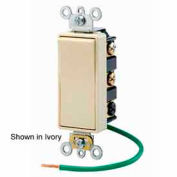 Leviton 5686-2i 15a Decora Plus Rocker, 2-Pole Dbl Throw Center Off Maint. Contact, Ivory-Min Qty 4
