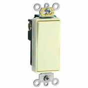 Leviton 5691-2E 15A, 120/277V, Decora Plus Rocker Single-Pole AC Quiet Switch, Black