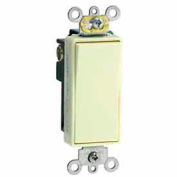 Leviton 5691-2GY 15A, 120/277V, Decora Plus Rocker Single-Pole AC Quiet Switch, Gray
