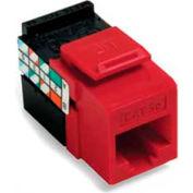 Leviton 5G108-RC5 GigaMax 5E QuickPort Connector, Cat 5E, Crimson
