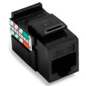 Leviton 5G108-RE5 GigaMax 5E QuickPort Connector, Cat 5E, Black