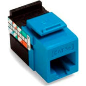 Leviton 5G108-RL5 GigaMax 5E QuickPort Connector, Cat 5E, Blue