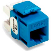 Leviton 61110-Rl6 Extreme 6+ Quickport Connector, Cat 6, Blue - Min Qty 13