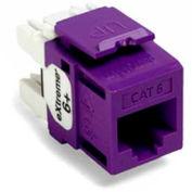 Leviton 61110-Rp6 Extreme 6+ Quickport Connector, Cat 6, Purple - Min Qty 13