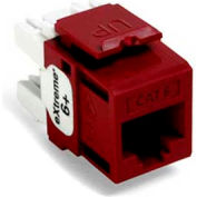 Leviton 61110-Rr6 Extreme 6+ Quickport Connector, Cat 6, Red - Min Qty 13