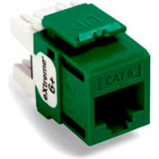 Leviton 61110-Rv6 Extreme 6+ Quickport Connector, Cat 6, Green - Min Qty 13
