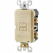 Leviton GFRBF-I SmartlockPro, Blank Face w/Indicator Light, 20A, Self Testing, Ivory