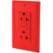 Leviton GFNT2-R 20A SmartlockPro Self-Test GFCI Duplex Recpt, Ind Light, Wire Leads, Red