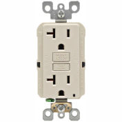 Leviton GFNT2-T 20A SmartlockPro Self-Test GFCI Duplex Recpt, Ind Light, Wire Leads, Light Almond