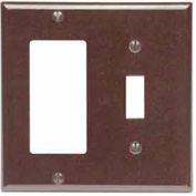 Leviton 80405-E 2-Gang 1-Toggle 1-Decora/GFCI Device Combo, Standard, Black