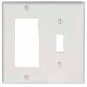 Leviton 80405-T 2-Gang, 1-Toggle, 1-Decora/Gucci, Standard, Lt Almond