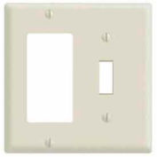 Leviton 80405 2-Gang 1-Toggle 1-Decora/GFCI Device Combo, Standard, Brown