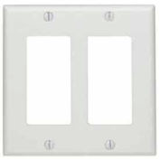 Leviton 80409-W 2-Gang Decora/GFCI Device Decora, Standard, Thermoset, White