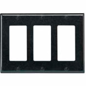 Leviton 80411-E 3-Gang Decora/GFCI Device Decora, Standard, Thermoset, Black